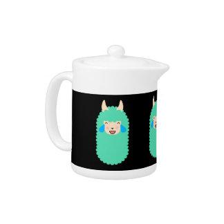 Llama Laughing Emoji Teapot