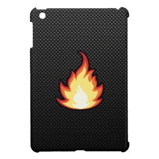 Llama lisa del fuego iPad mini carcasas