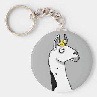Llama Llama ...duck? Basic Round Button Keychain