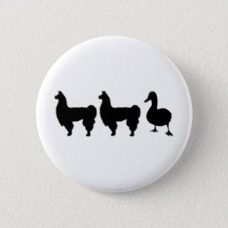 Llama Llama Duck Pinback Button