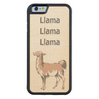 Llama Llama Llama Carved® Maple iPhone 6 Bumper