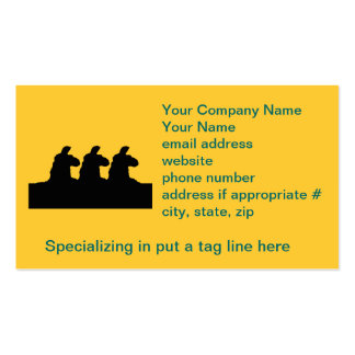 Llama: llama siloutted 3 en negro tarjeta de visita