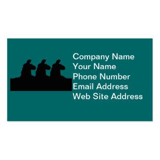 Llama: llama siloutted 3 en negro plantillas de tarjeta de negocio