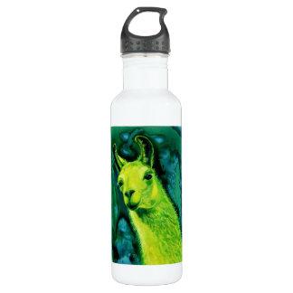 """Llama - """"Llemon-Llime Llama"""" Stainless Steel Water Bottle"""