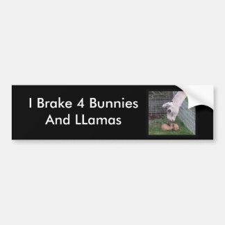 Llama Llove y conejito Etiqueta De Parachoque