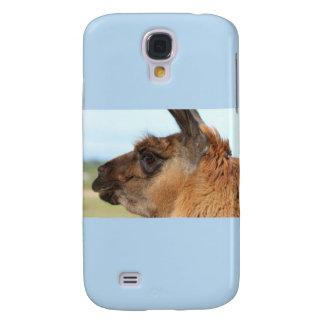 Llama looking left-Brown llama in a field Samsung Galaxy S4 Covers