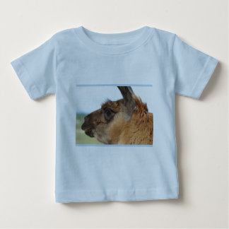Llama looking left-Brown llama in a field Tee Shirt