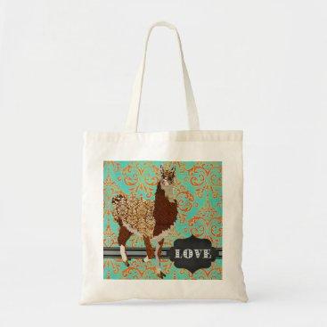 Greyszoo Llama Love Damask Bag