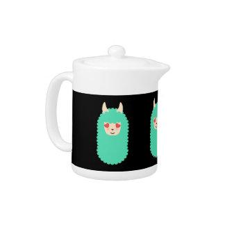 Llama Love Emoji Teapot