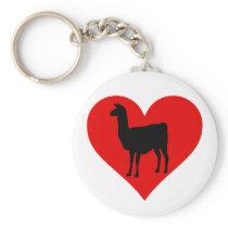 Llama Love Keychain