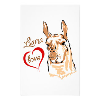 LLAMA LOVE STATIONERY DESIGN