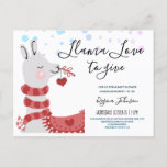 llama Love Valentine Baby Shower Girl Invitation Postcard