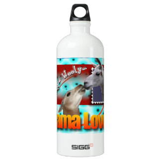 LLAMA LOVE - WILD AND WOOLY ALUMINUM WATER BOTTLE