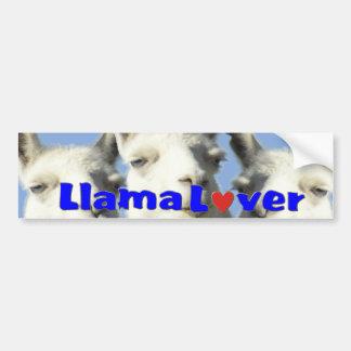 Llama Lover Bbumper STICKER Car Bumper Sticker