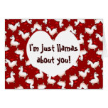 Llama Madness Greeting Card