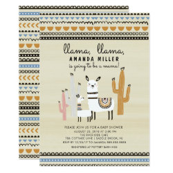 Llama Mama Baby Shower Invitation
