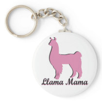 Llama Mama Keychain