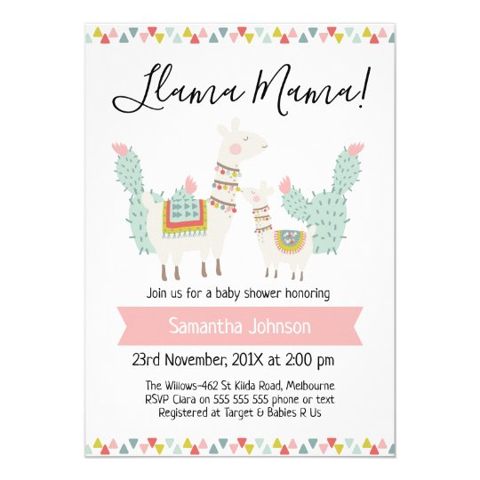 Llama mama llama baby shower invitation zazzle llama mama llama baby shower invitation filmwisefo