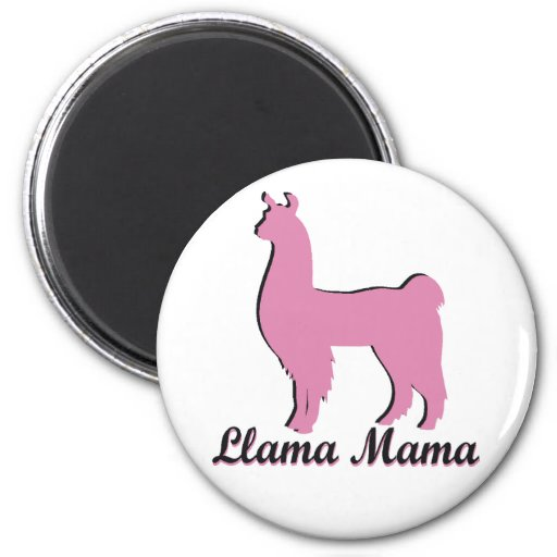 Llama Mama Refrigerator Magnet
