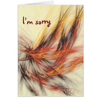 llama marrón, lo siento tarjeta de felicitación