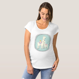 Llama momma and baby maternity t-shirt