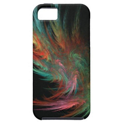 Llama multicolora del fractal iPhone 5 cárcasa