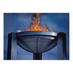 Llama olímpica asombrosa invitación 12,7 x 17,8 cm