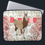 """Llama Olive Damask Cherry Blossom Computer Sleeve<br><div class=""""desc"""">Designed by Nicole King &#169; 2012 Customized Designs Available upon Request cole30@gmail.com</div>"""