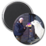 llama Paint Fridge Magnet