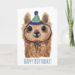 Llama Party Animal Birthday Card