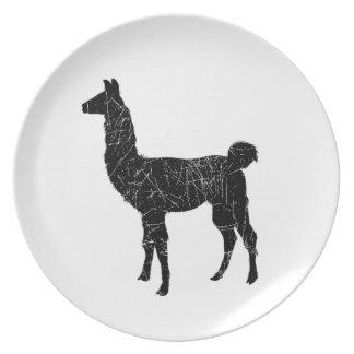 Llama Party Plate