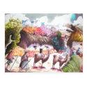 Llama Picture Peru village Post Card