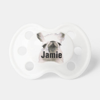 Llama pija presumida personalizada chupetes para bebes