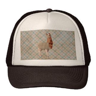 Llama Plaid Lid Trucker Hat