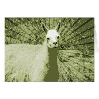 Llama Pop Art Card