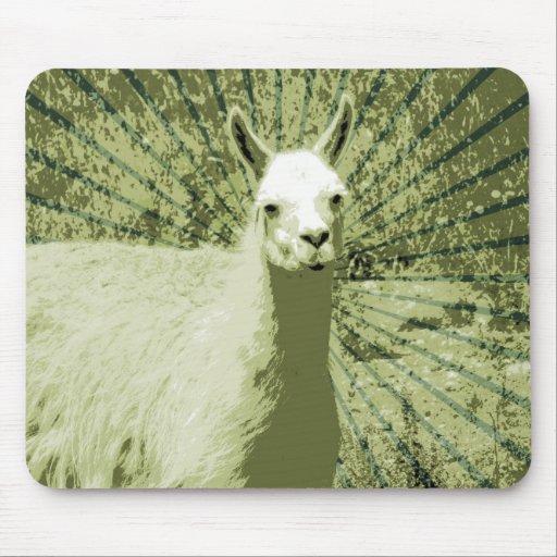 Llama Pop Art Mouse Pad