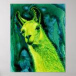 """Llama Poster/Print - """"Llemon-Llime Llama"""""""