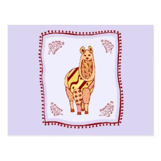 Llama Quilt Postcard