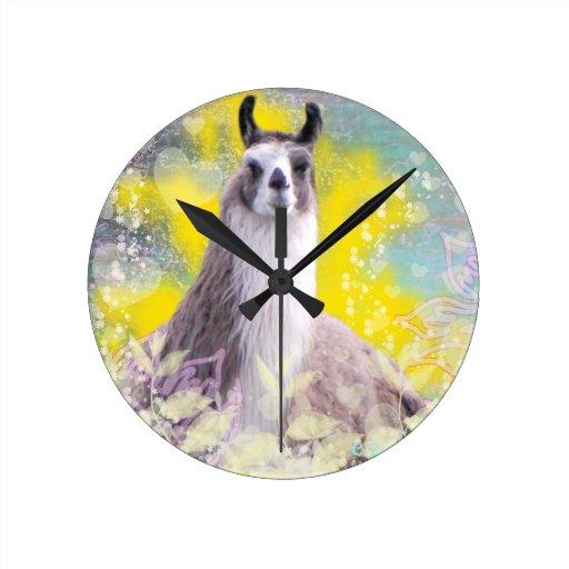 Llama Repose Fiberous Male Llama Montana Smoke Clock
