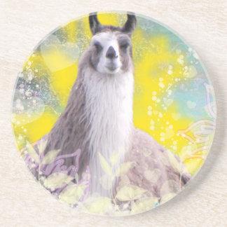 Llama Repose Fiberous Male Llama Montana Smoke Coasters