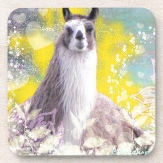 Llama Repose Fiberous Male Llama Montana Smoke Drink Coasters