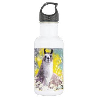 Llama Repose Fiberous Male Llama Montana Smoke Stainless Steel Water Bottle