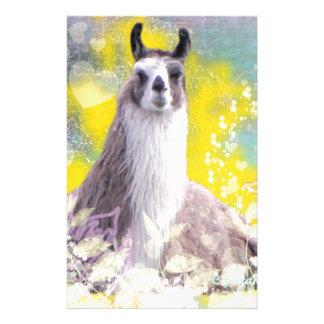 Llama Repose Fiberous Male Llama Montana Smoke Stationery Design