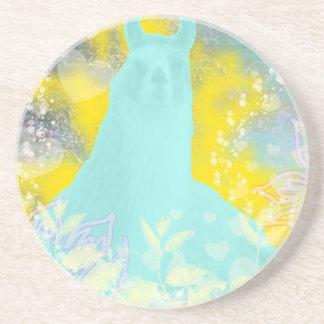 Llama Repose Transcendental Llama Beverage Coasters