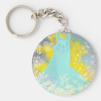 Llama Repose Transcendental Llama Key Chain