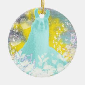 Llama Repose Transcendental Llama Ornaments