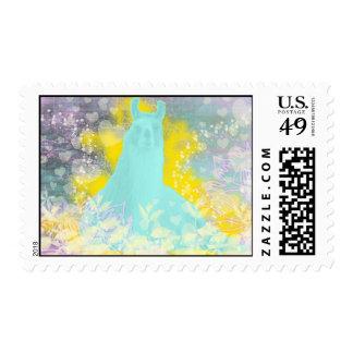Llama Repose Transcendental Llama Postage Stamp