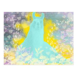 Llama Repose Transcendental Llama Postcard