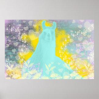 Llama Repose Transcendental Llama Poster