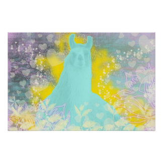Llama Repose Transcendental Llama Print